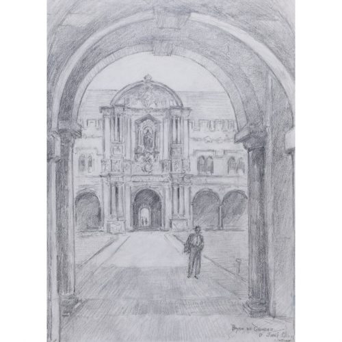 Bryan de Grineau St John's College Oxford Canterbury drawing for sale