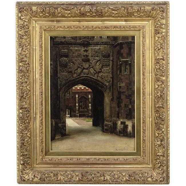 William Logsdail St John's College Cambridge oil painting