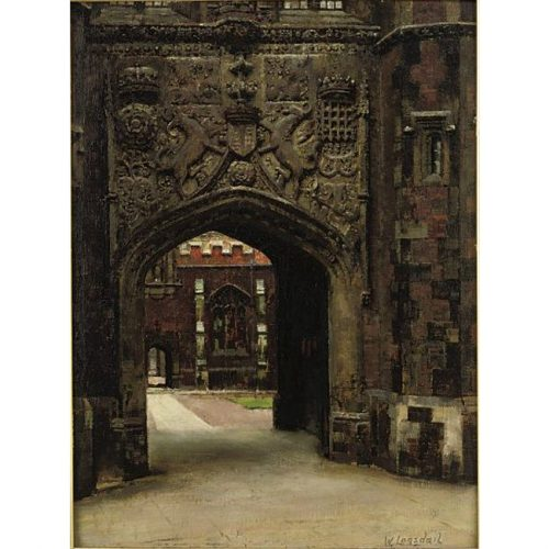 William Logsdail St John's College Cambridge oil painting for sale