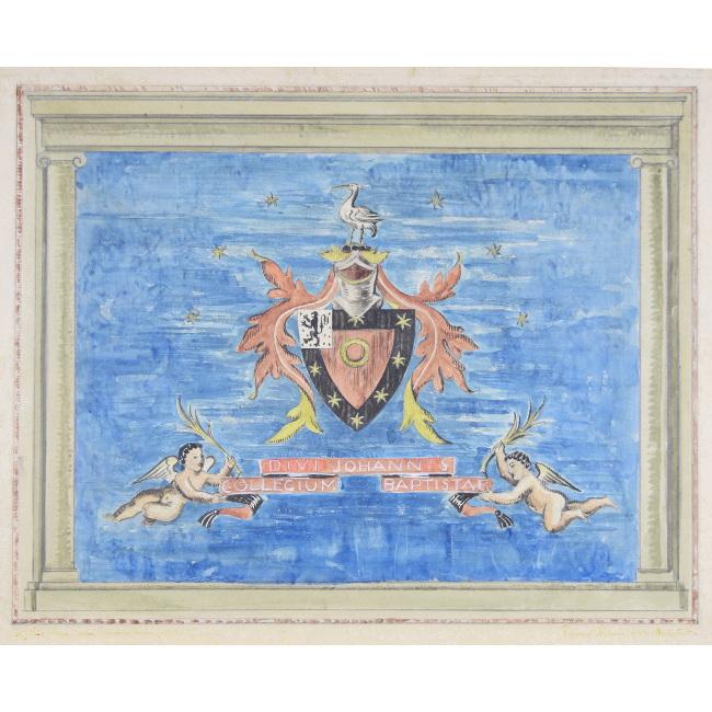Edward Maufe St John's College Oxford Carpet Senior Common Room Heraldic Carpet Design