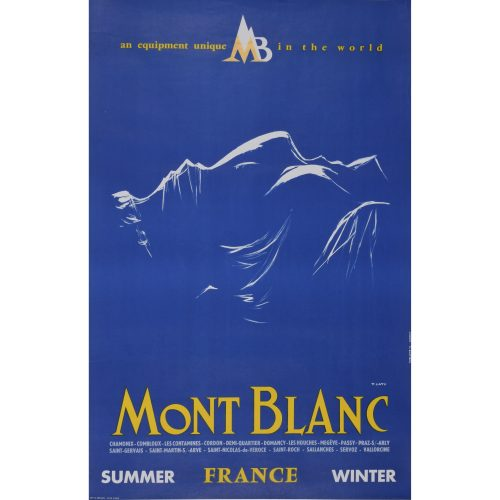 Yves Laty Mont Blanc Skiing poster