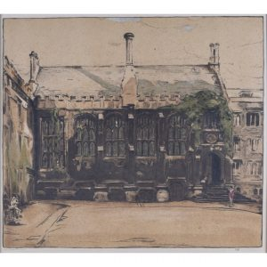 William Nicholson Exeter College Oxford lithograph for sale