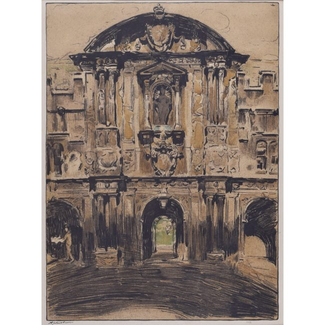 William Nicholson St John's College Oxford lithograph for sale