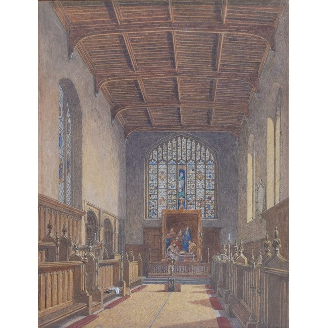 George Pyne St Johns College Cambridge Old Chapel for sale