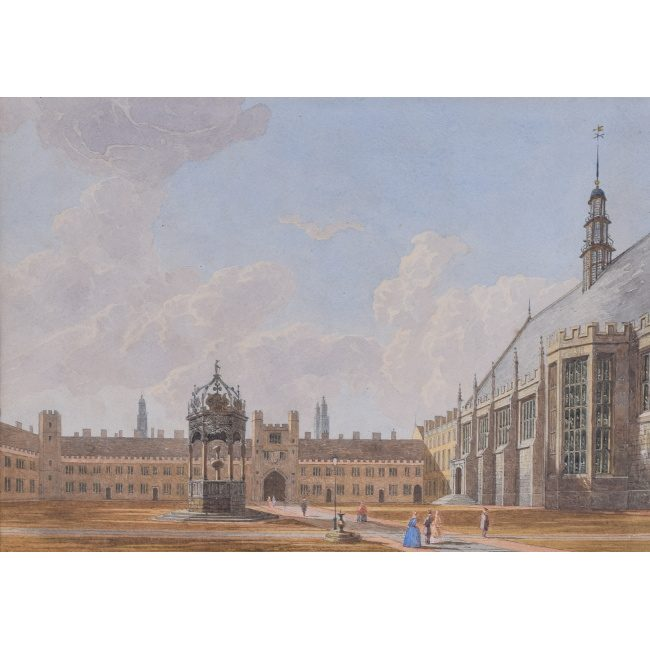 George Pyne Trinity Great Court watercolour for sale