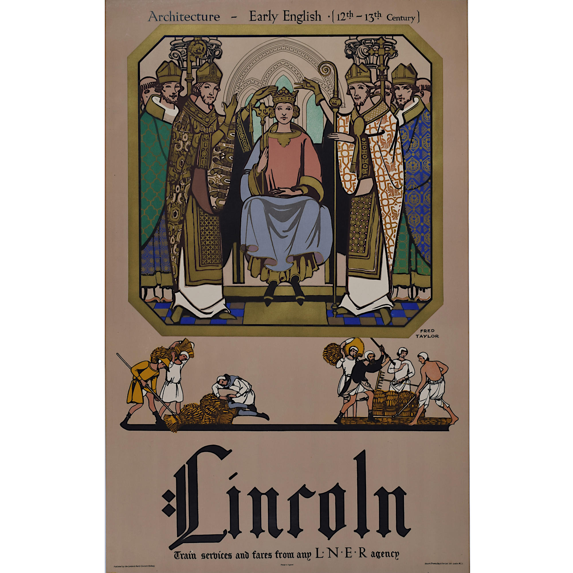 Fred Taylor Lincoln LNER Poster 1