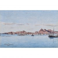Claude Muncaster Warships at anchor Still Morning at Aden