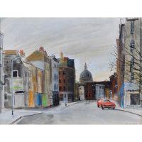 AR Hundleby St John Street London watercolour for sale