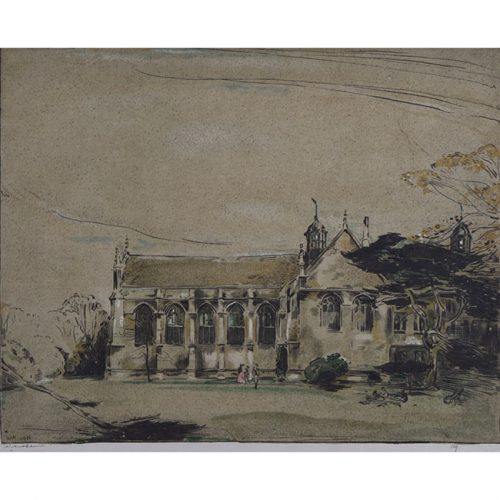 William Nicholson Garden Front with Chapel, Wadham College, Oxford