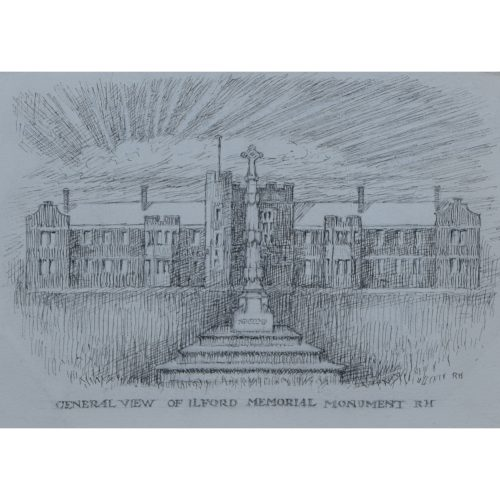 Reginald Hallward design for Ilford war memorial monument