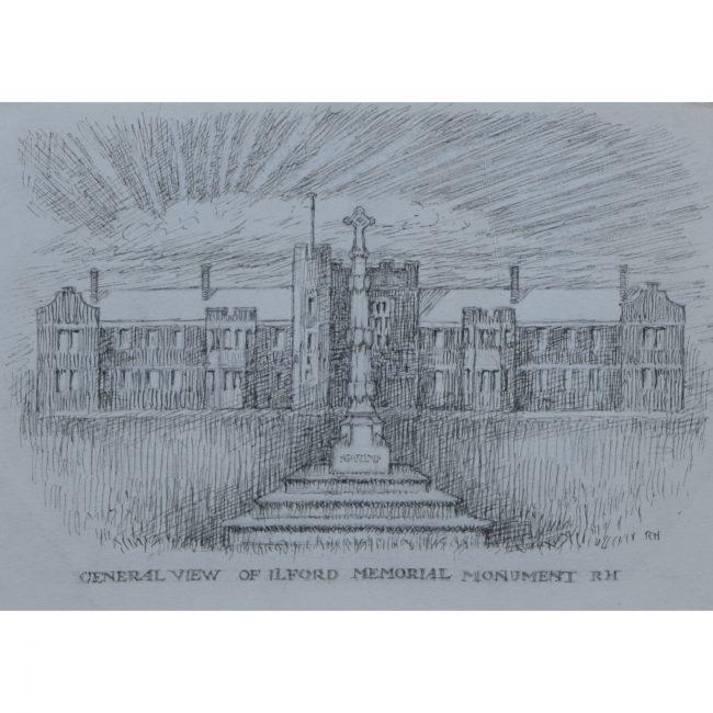 Reginald Hallward design for Ilford war memorial monument