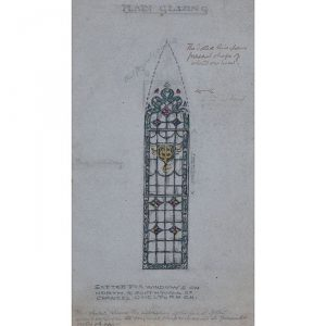 Reginald Hallward Stain Glass Window Design