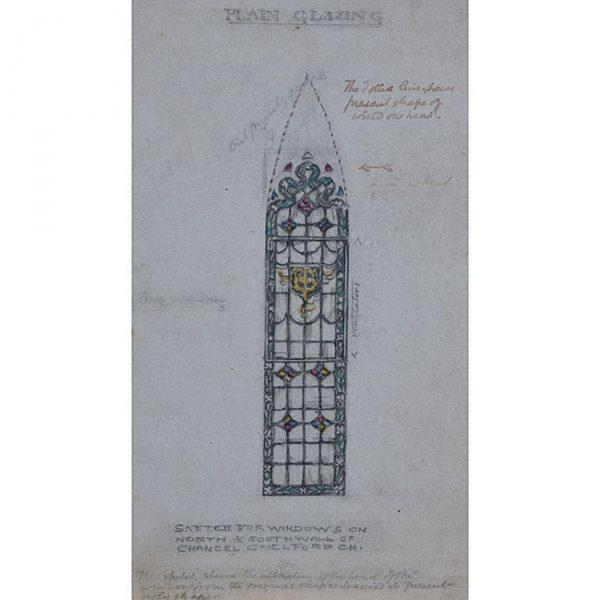 Reginald Hallward Stain Glass Window Design