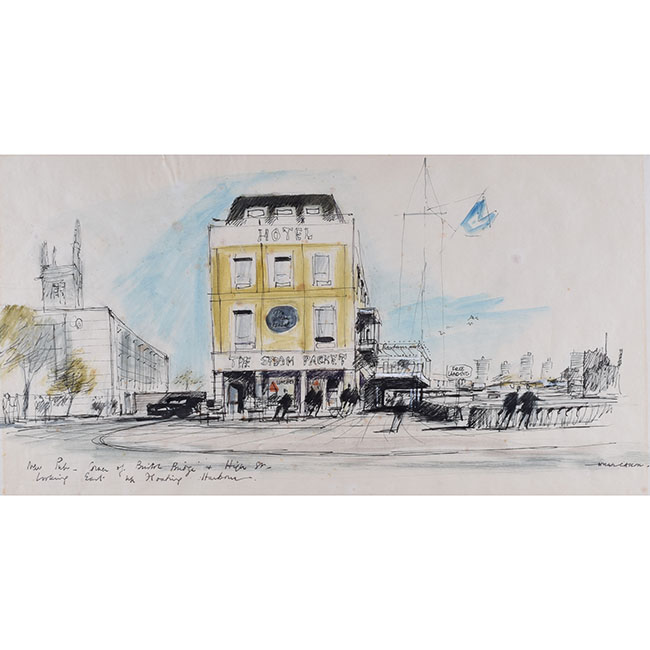 Hugh Casson New Pub, Corner of Bristol Bridge and High Street Looking East, Bristol