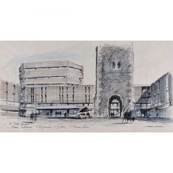 Hugh Casson St. Peter's Square, Main Entrance to Museum and Gallery, Bristol