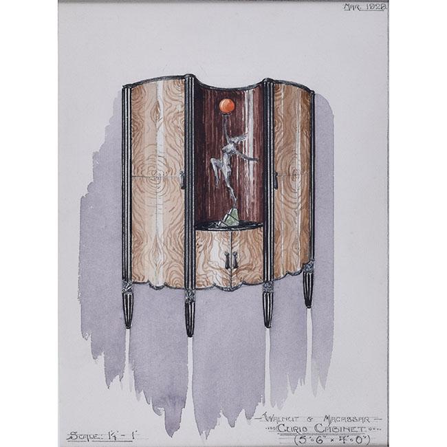 D L Hadden Curio Cabinet Design