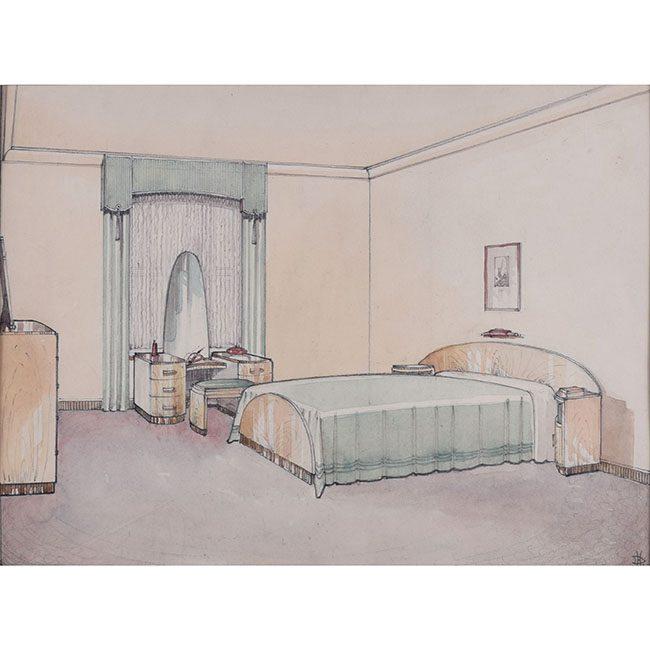 D L Hadden Bedroom Interior