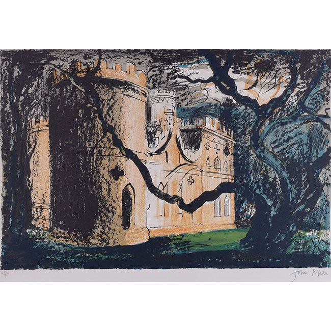 John Piper Clytha Castle lithograph for sale