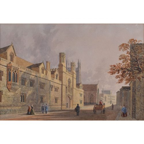George Pyne Merton College Oxford watercolour for sale