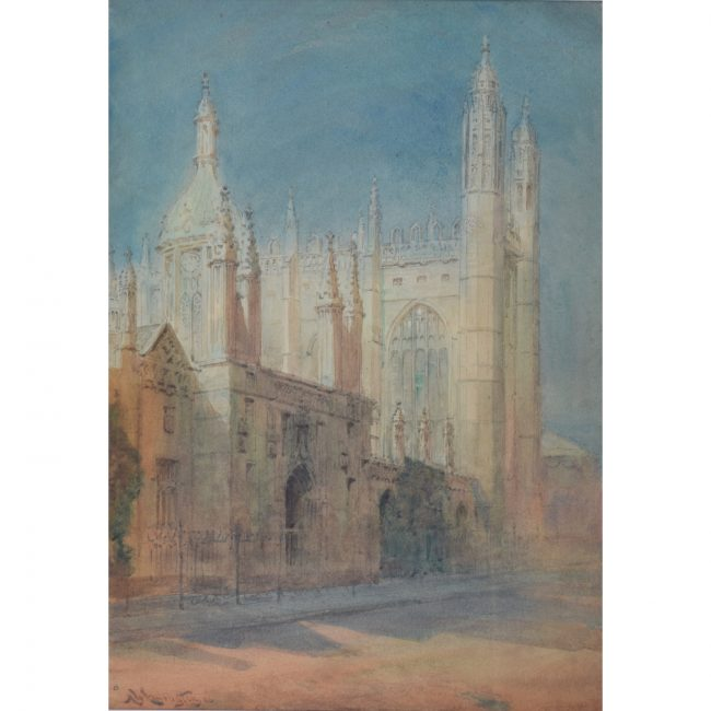 Alexander Wallace Rimington King's College Chapel Cambridge watercolour for sale Nine Lessons and Carols