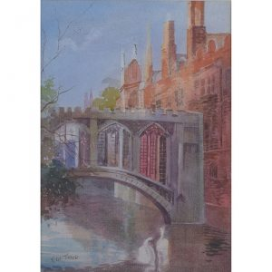 E W Trick Bridge of Sighs St. John's College Cambridge