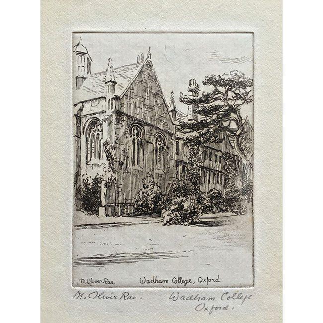 M Oliver Rae Wadham College Oxford