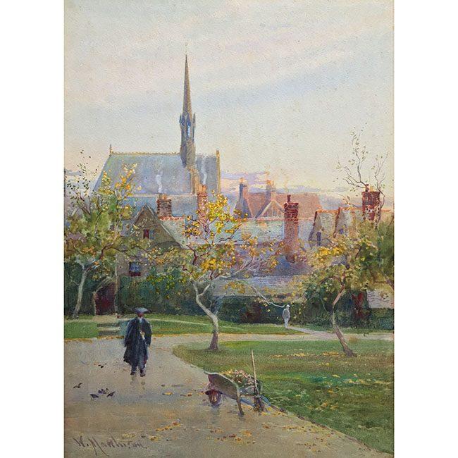 William Matthison Trinity Quad in the Autumn