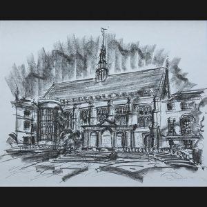 Tony Broderick Trinity College, Cambridge, Hall from exterior