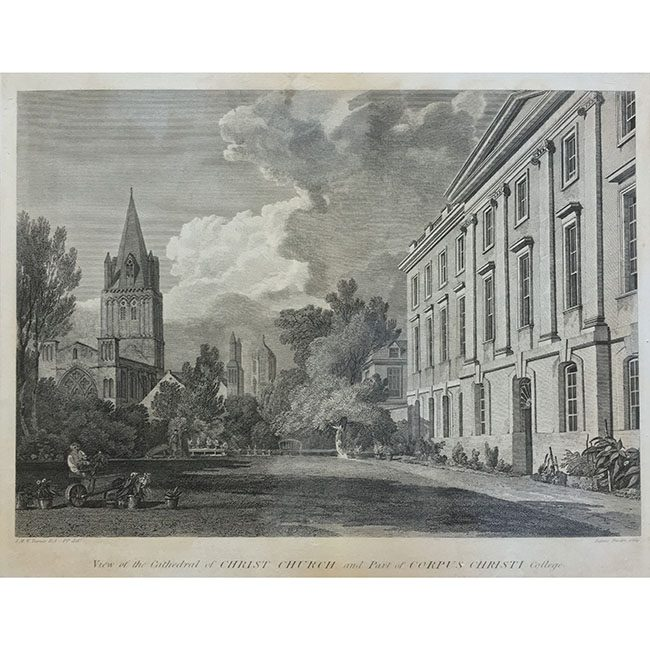 James Basire after J.M.W Turner View of the Cathedral of Christ Church and part of Corpus Christi College, Oxford