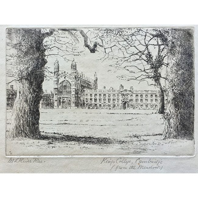 M Oliver Rae King's College Chapel from the Meadows