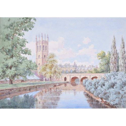 James Greig Magdalen Oxford watercolour for sale