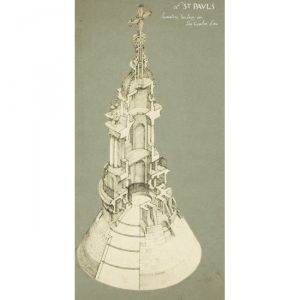 St Paul's Cathedral lantern drawing for sale