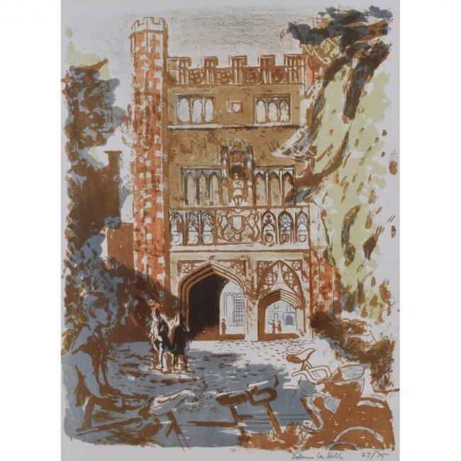 Edwin La Dell Trinity College Cambridge lithograph