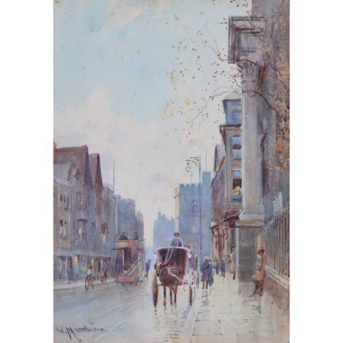 William Matthison All Saints Carfax Oxford watercolour painting