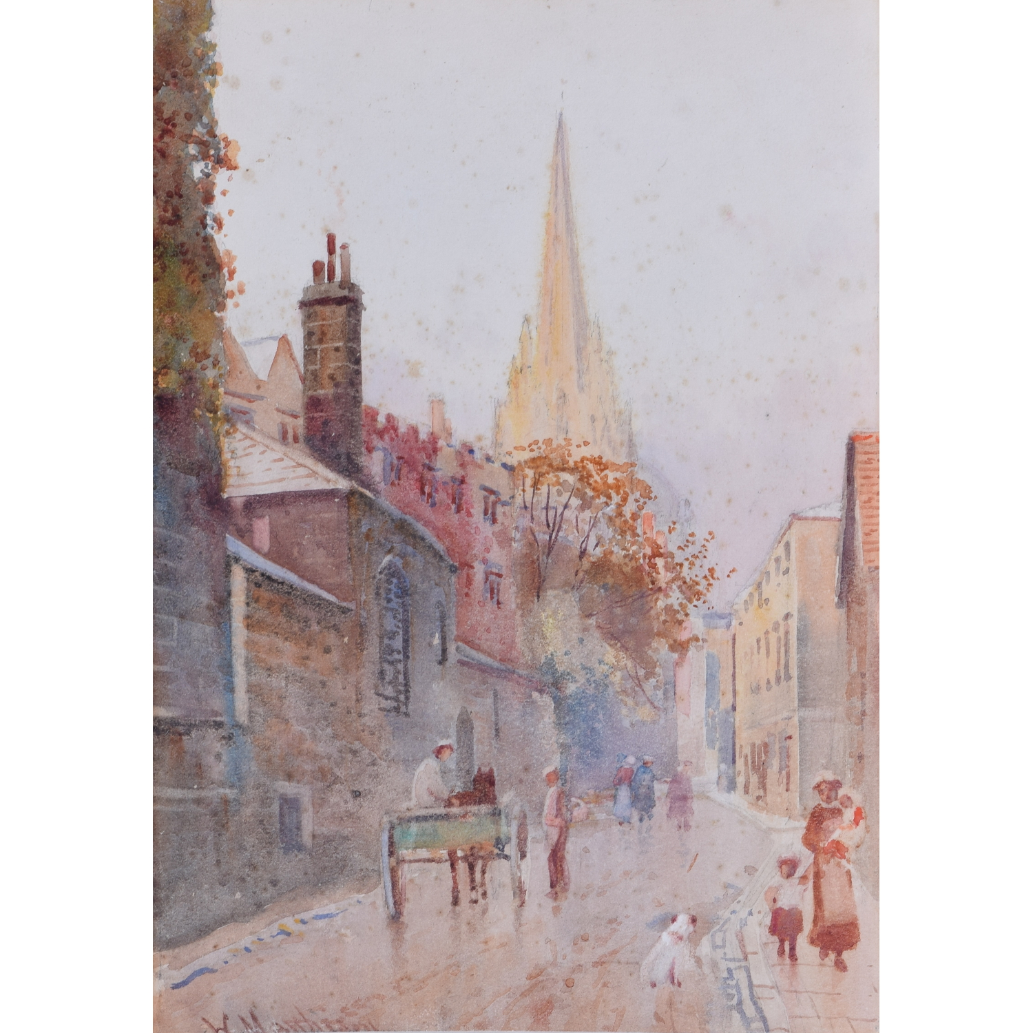 William Matthison Oriel Street, Oxford and St. Mary's Church