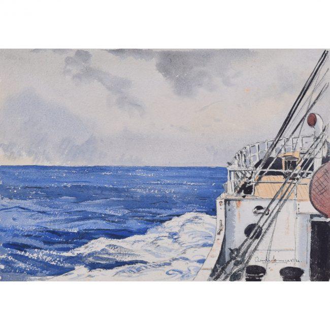 Claude Muncaster The Bow Wash watercolour
