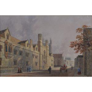 George Pyne Merton College Oxford watercolour