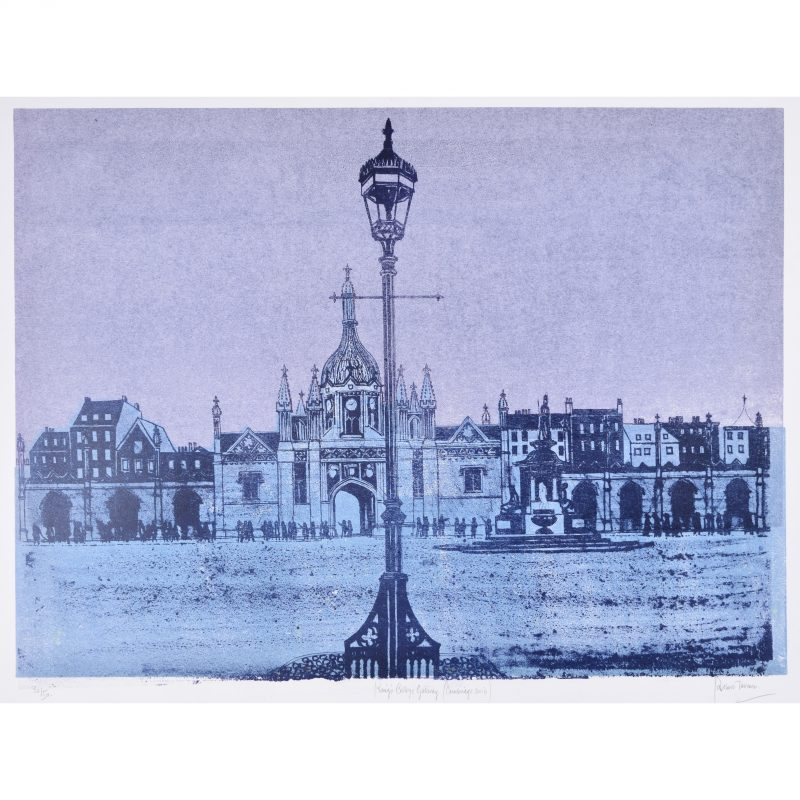 Robert Tavener King's College Cambridge Lithograph