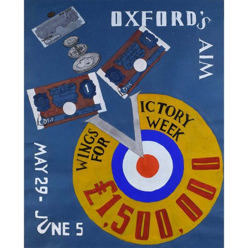 Oxford University Wings for Victory World War III Poster Design