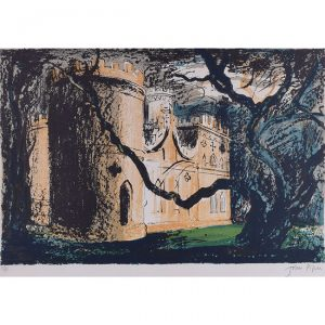 John Piper Clytha Castle lithograph