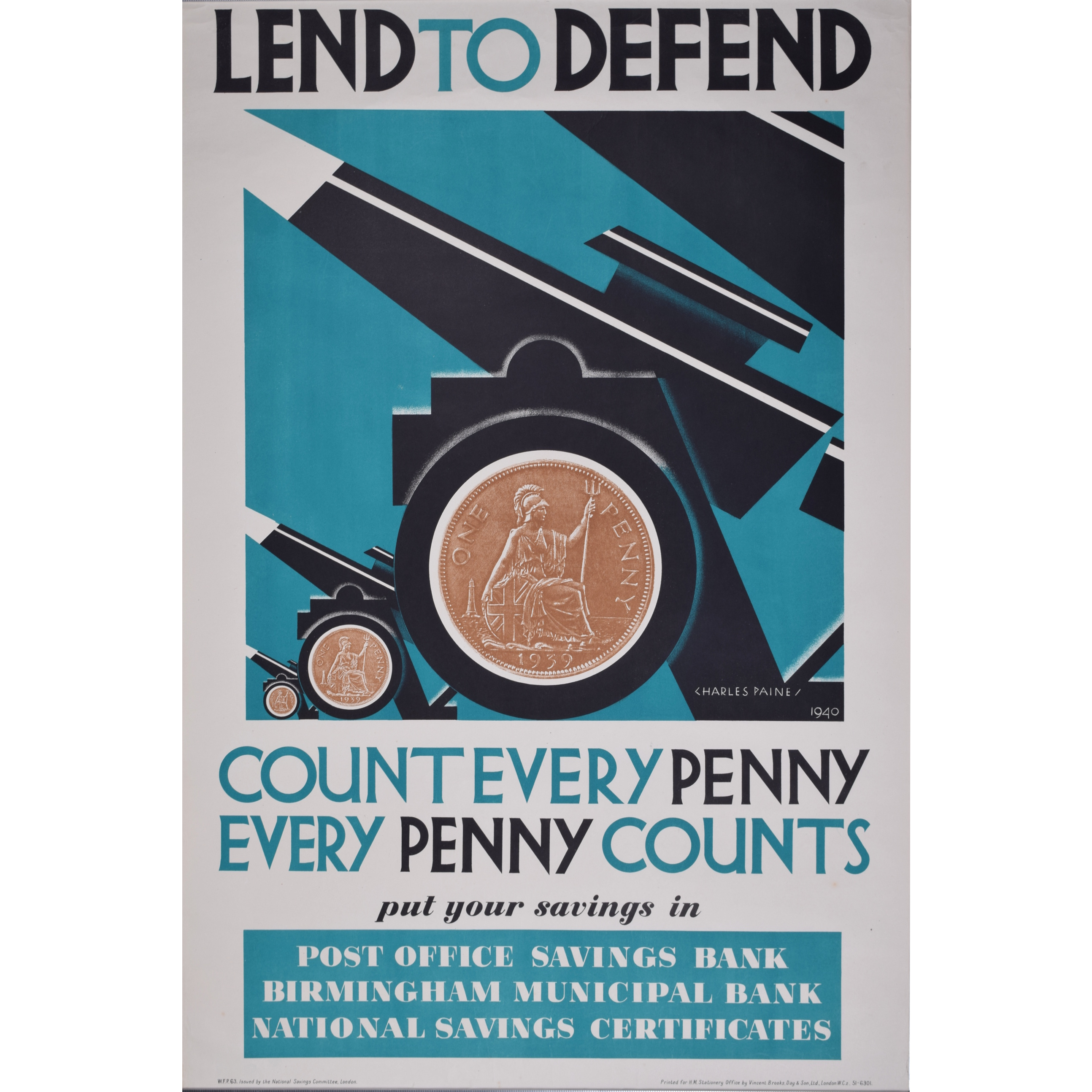 Charles Paine Lend to Defend poster