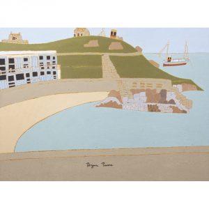 Bryan Pearce Porthgwidden Beach Harbour Scene