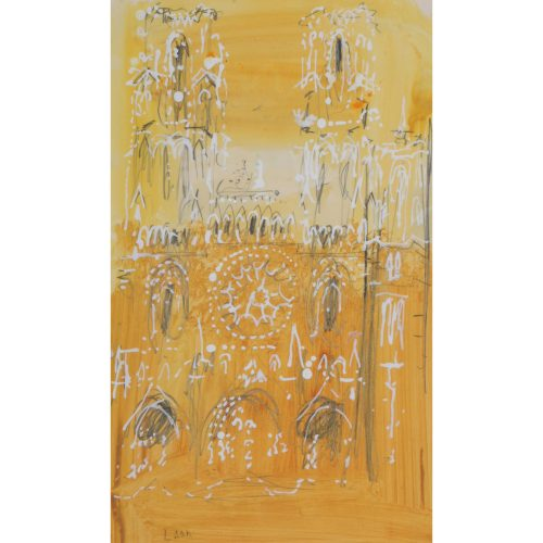 John Piper Laon Cathedral watercolour original for sale