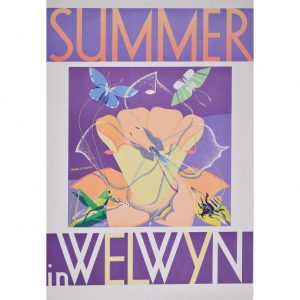 Charles Paine Summer in Welwyn Garden City Original Poster for Town Planning of a New Town