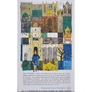 Gaynor Chapman Westminster Abbey London Original Transport Poster