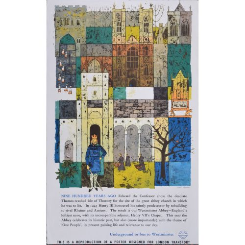 Gaynor Chapman Westminster Abbey London Original Transport Poster