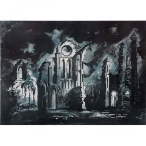 John Piper Arbroath Abbey screenprint