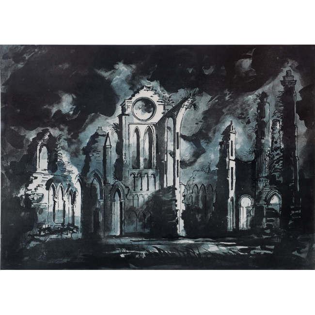 John Piper Arbroath Abbey screenprint