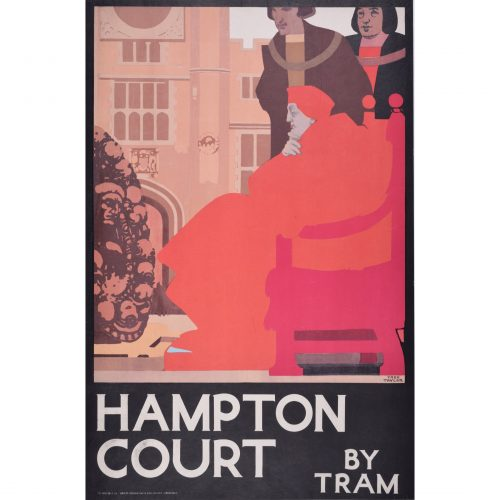 Fred Taylor Hampton Court by Tram original London Transport Poster