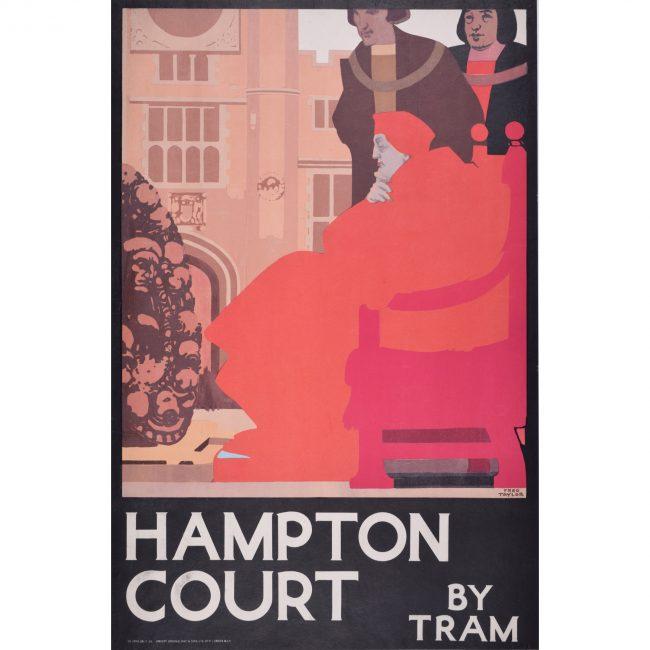 Fred Taylor Hampton Court by Tram original London Transport Poster